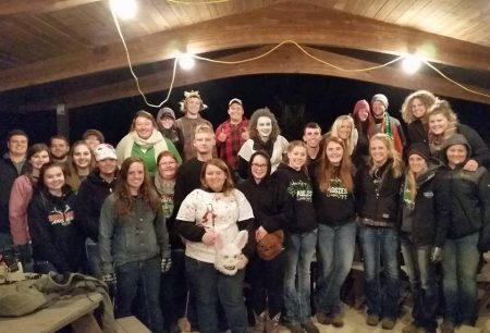 WC Collegiate 4-H and participants in WC Haunted Trail
